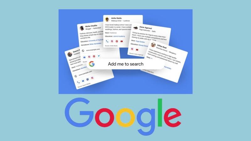 virtual visiting cards on Google